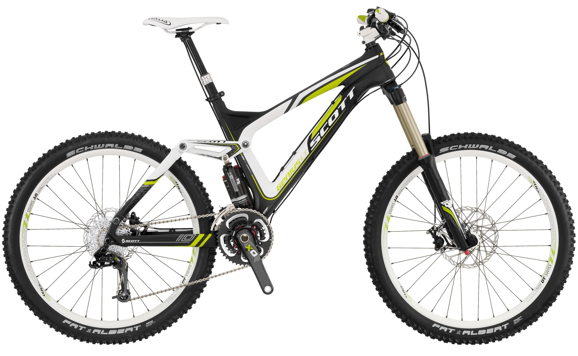 scott genius lt 10 carbon adjustable long travel mountain bike
